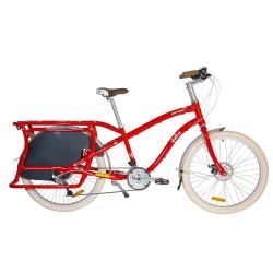 Vélo cargo Yuba Boda Boda rouge