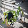 Vélo cargo Yuba Boda Boda vert pare-jupe