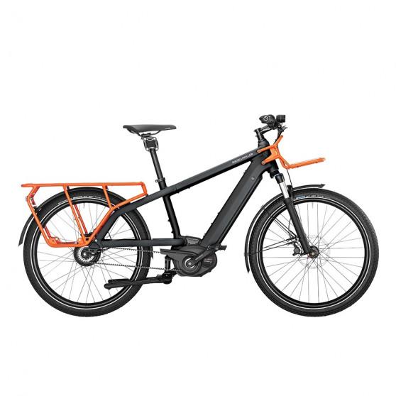 Vélo cargo électrique Riese&Müller Multicharger GT gris diamant