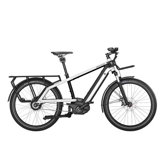 Vélo cargo électrique Riese&Müller Multicharger Vario blanc