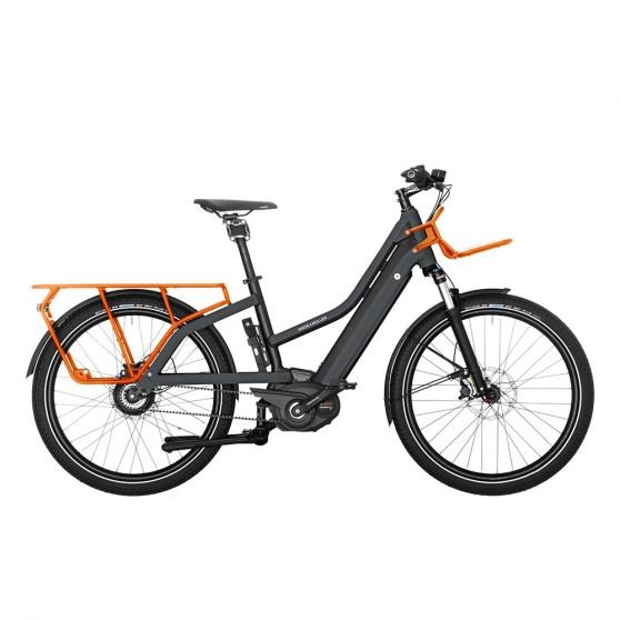 Vélo cargo électrique Riese&Müller Multicharger Vario gris mixte