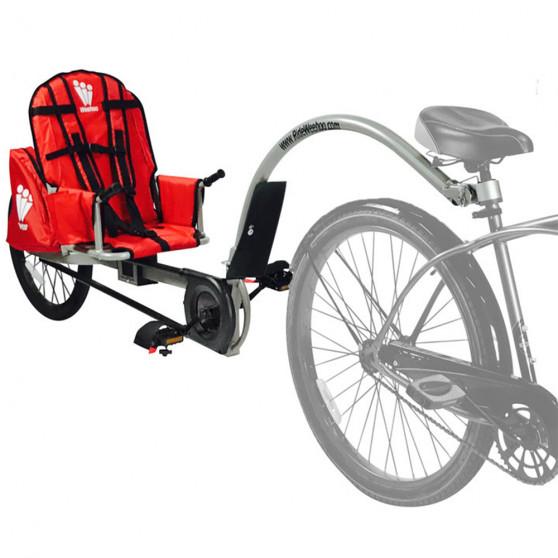 Remorque vélo à pédales Weehoo iGo Turbo