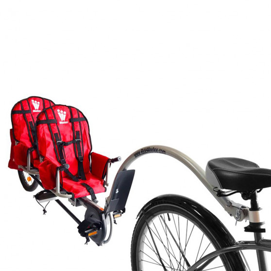 Remorque vélo à pédales biplace Weehoo iGo Two