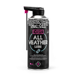 Lubrifiant toutes conditions pour chaîne VAE Muc-Off eBike All-Weather Lube 400 ml