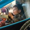 Remorque vélo enfant Croozer Kid Plus for 1 vitrage plastique