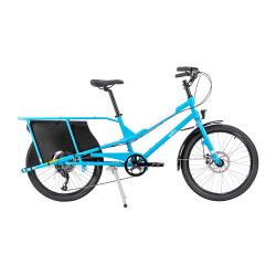 Vélo cargo Yuba Kombi bleu