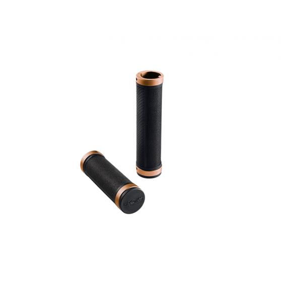 Poignées Brooks Cambium Comfort noir/cuivre 130 mm