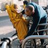 Cape de pluie enfant imperméable Rainette pour porte-bébé vélo élastique