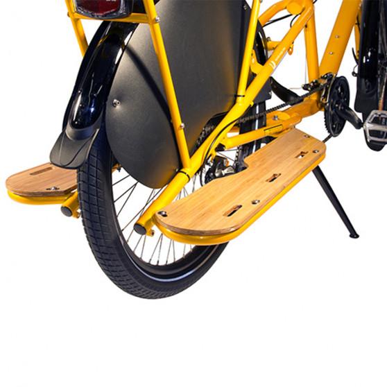 Repose-pieds Yuba Bamboo Boards pour vélos cargo Mundo