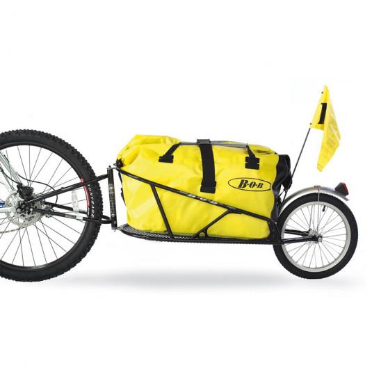 Remorque de vélo voyage BOB Yak sac fanion