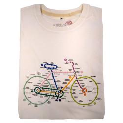 T-Shirt Cyclable plan métro en coton bio