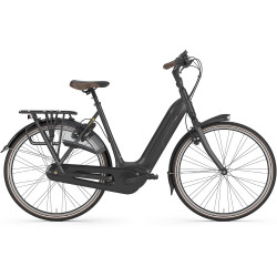 Vélo de ville électrique Gazelle Grenoble C8 HMB noir