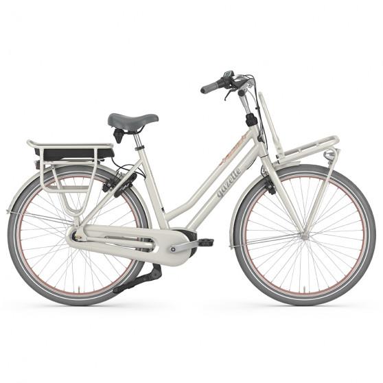 Vélo de ville électrique Gazelle Miss Grace C7 HMB blanc