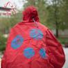 Cape de pluie Spad De Ville Fulap rouge réfléchissant
