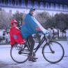 Cape de pluie enfant Spad De Ville Fulap Junior rouge siège