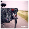 Paire de sacoches vélo ville Basil Wanderlust 2 x 17,5 L Noir