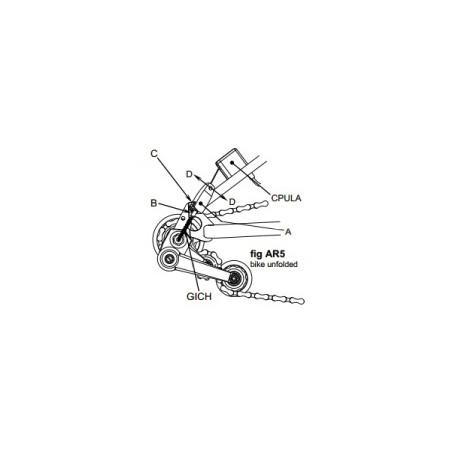 Brompton clip de fixation/chaînette