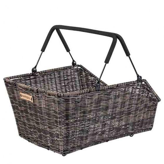 Panier de vélo arrière Basil Cento Rotin MIK