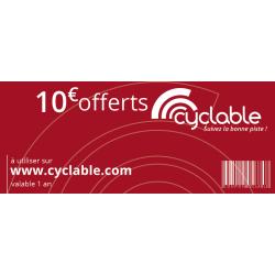 Chèque cadeau Cyclable