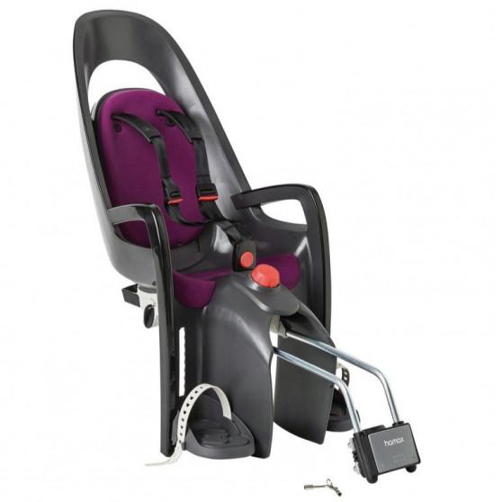 Porte-bébé vélo arrière sur cadre Hamax Caress Violet