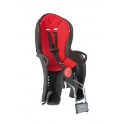 Porte-bébé vélo arrière sur cadre Hamax Sleepy Noir/Rouge