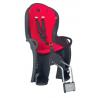 Porte-bébé vélo arrière sur cadre Hamax Kiss Noir/Rouge