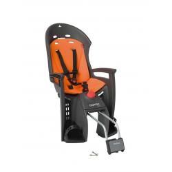 Porte-bébé vélo arrière sur cadre Hamax Siesta Gris/Orange