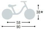 Dimensions de la draisienne LR Ride