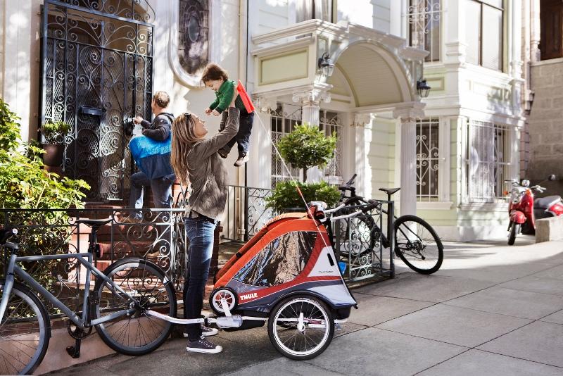 Remorques à vélo pour enfants Thule Chariot : détails techniques