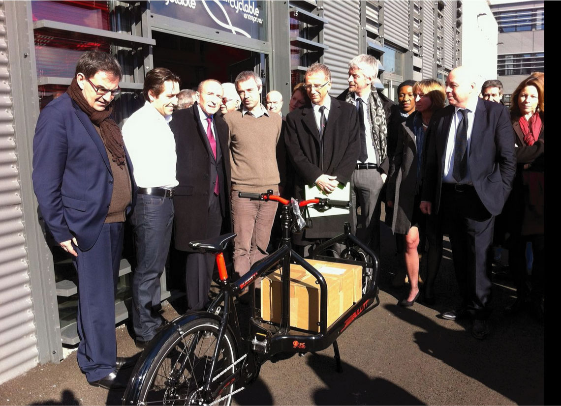 Inauguration de Greenopolis : visite de Cyclable
