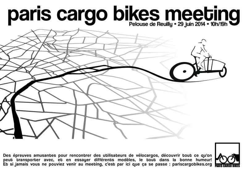 Urban Arrow sera aux côtés de Cyclable pour le Paris Cargo Bike Meeting 2014