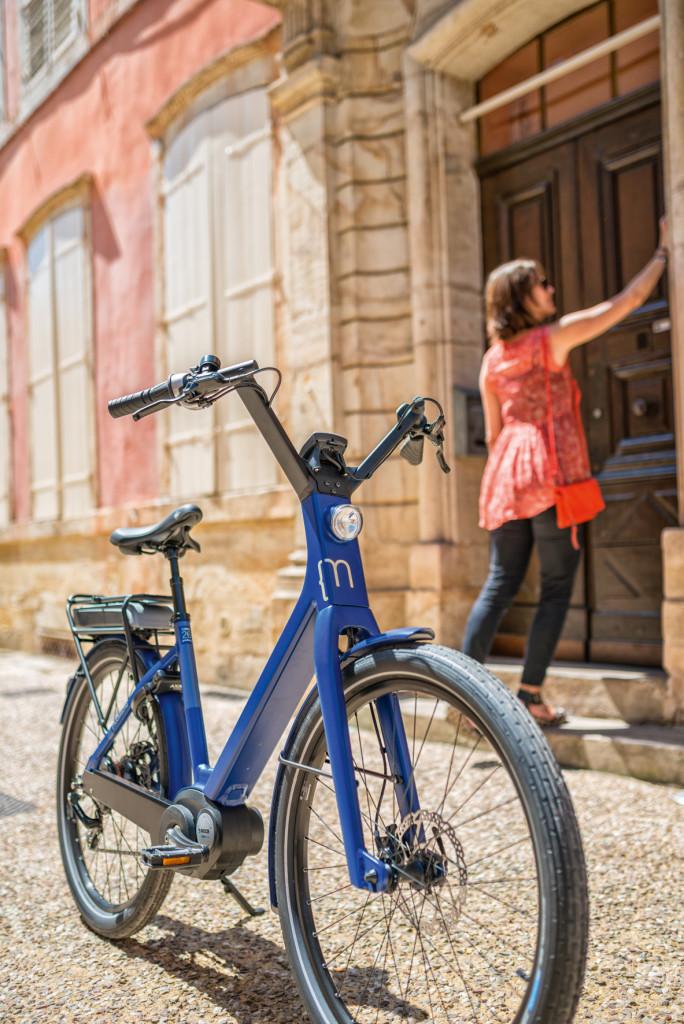 Vélo électrique dans la ville