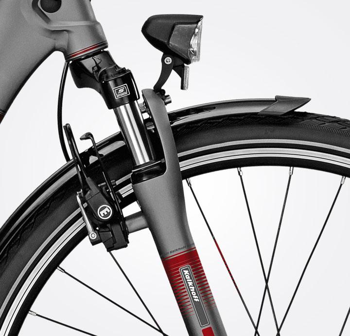 fourche suspendue sur vélo kalkhoff
