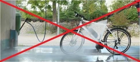 Affiche interdisant le lavage haute pression