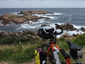Vélo face à la mer