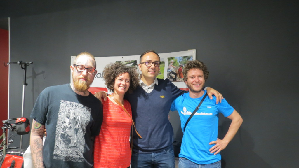Equipe Cyclable Toulouse et gagnants concours aventure