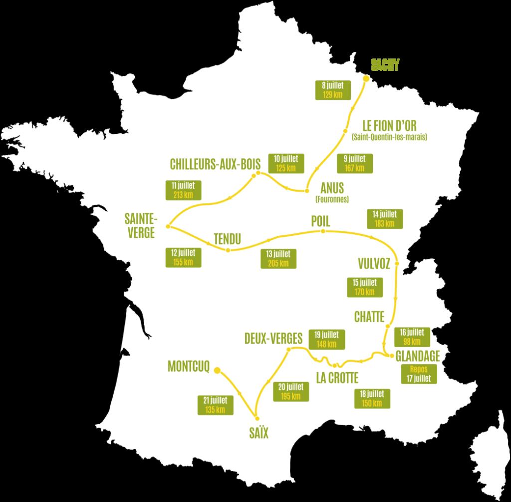 Cartographie du Love Tour 2016