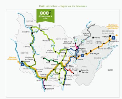Capture d'écran site France Tourisme Vélo