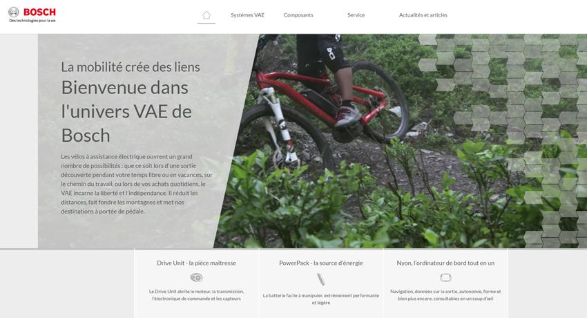 BOSCH E-BIKE SYSTEM lance son nouveau site internet