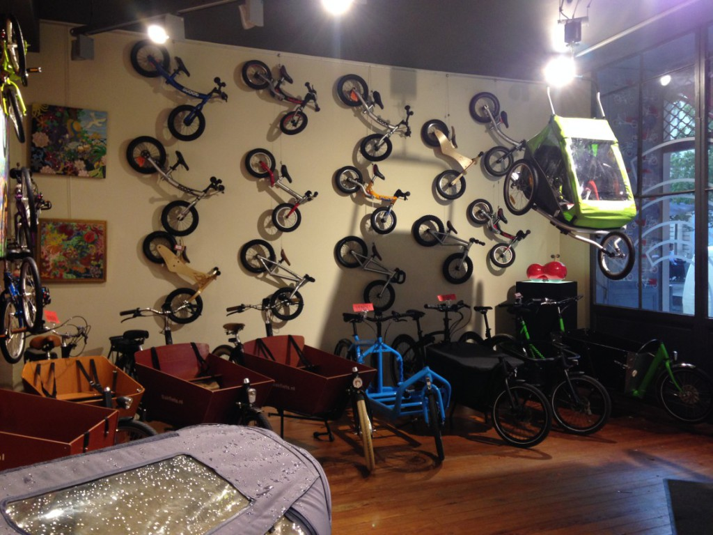 Draisiennes et vélos enfants en présentation à Cyclable Bordeaux