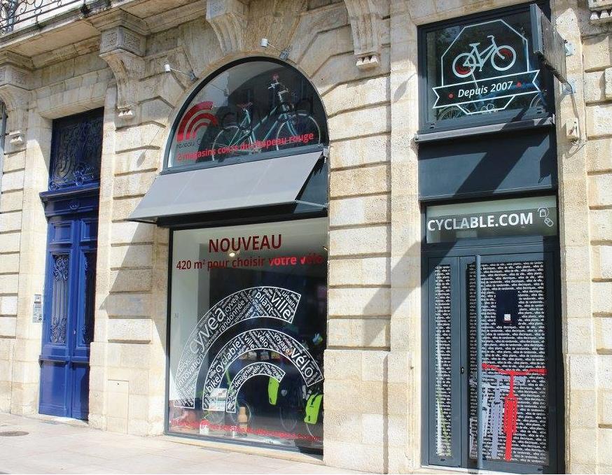 Cyclable Bordeaux vue extérieure