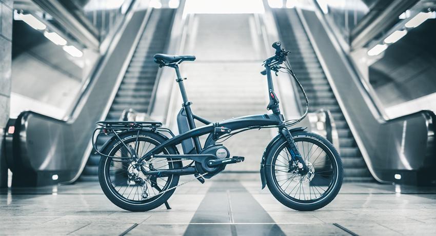 Un vélo pliant électrique Bosch chez Tern