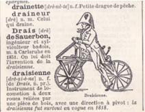Gros plan definition draisienne dictionnaire 1907