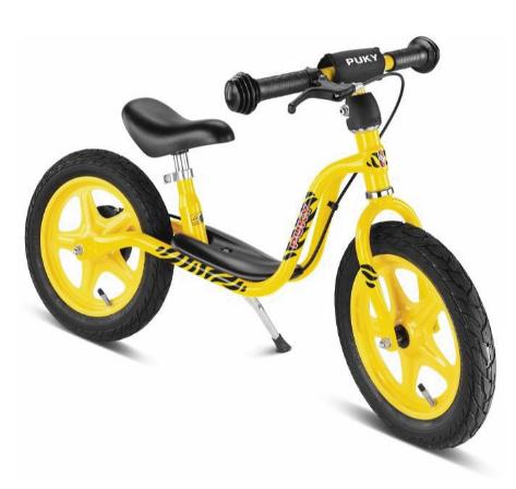Draisienne jaune avec frein