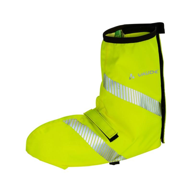 Sur-chassures vélo jaune fluo haute visibilité