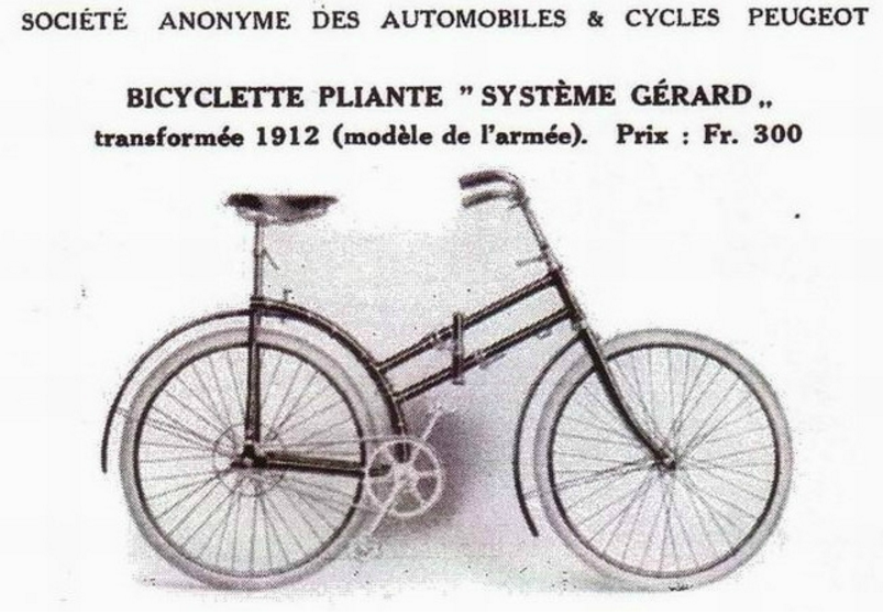 Extrait catalogue peugeot bicyclette gerard