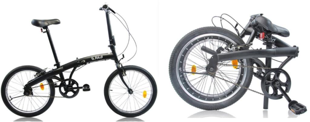 Vélo pliable bfold plié et déplié