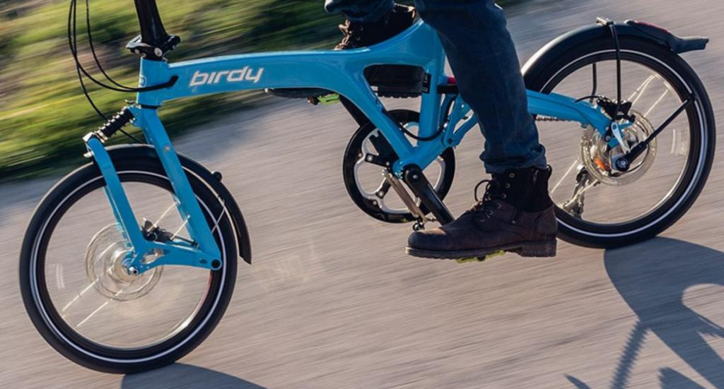 Vélo pliant Birdy bleu
