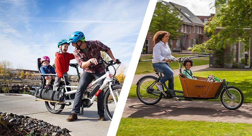 Vélo cargo rallongé ou vélo cargo avec caisse à l'avant ?