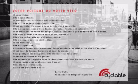 Voter voiture ou voter vélo ?